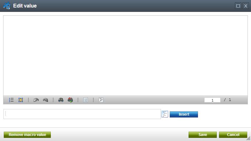 Kentico CMS: Edit Value Dialog Box