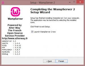WAMPServer Installation Success
