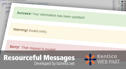 New Kentico Web Part Released: Resourceful Messages
